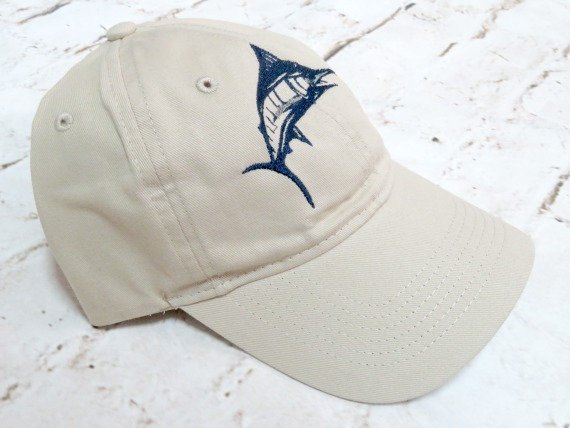Blue Marlin - Fish Hat - Custom Embroidered Fishing Cap in 2018 ... c4252cd056dc