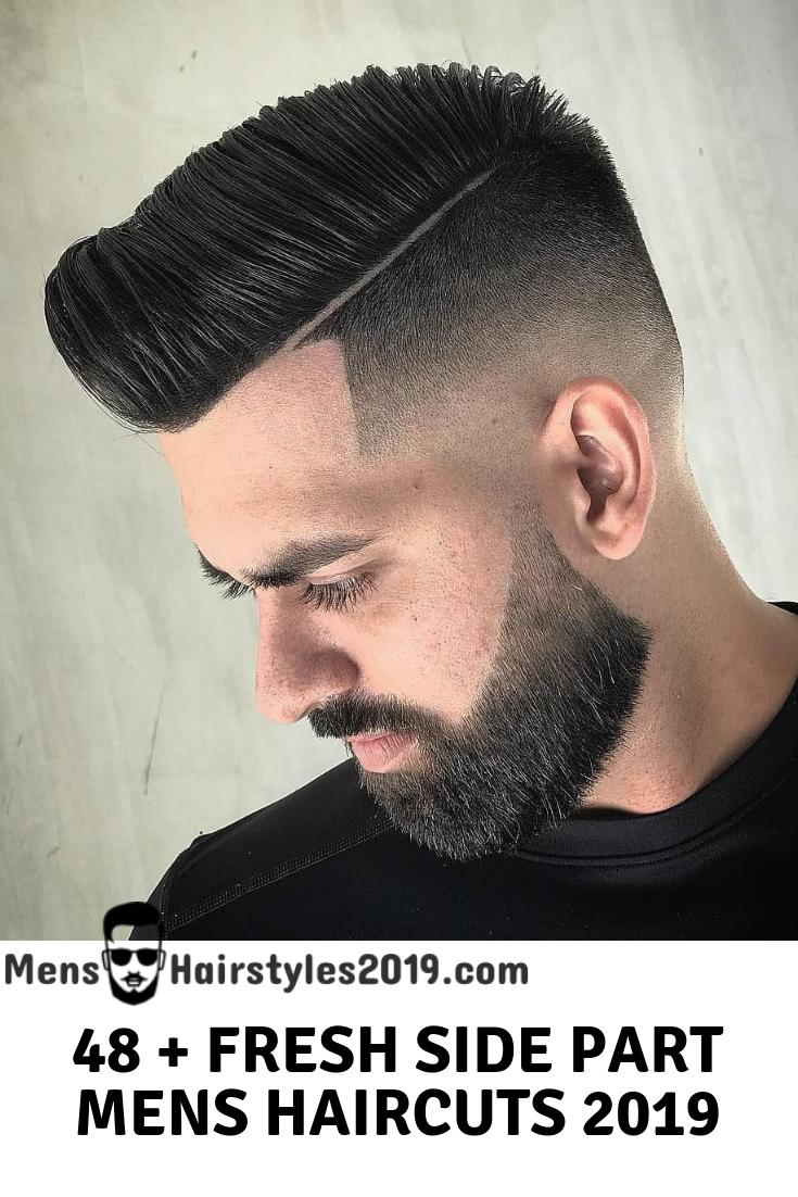 Men's haircut side part mens hairstyles    mens side part haircuts  variations