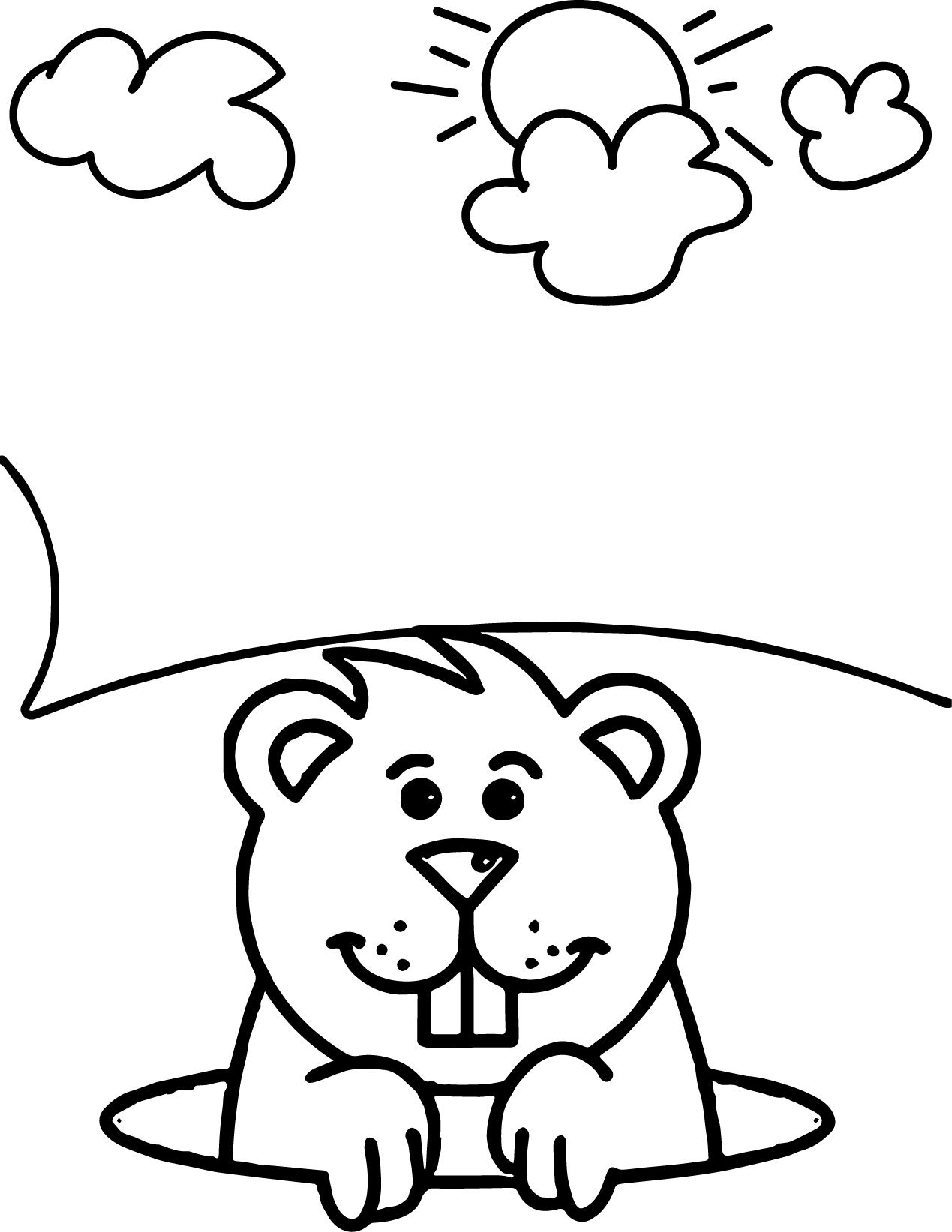 Groundhog Coloring Pages Or Sheets