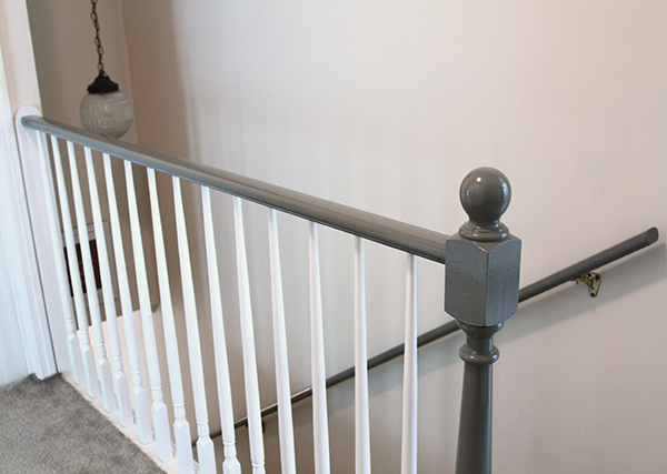 Cromwell Gray Stair Railings Painted Staircases Banister
