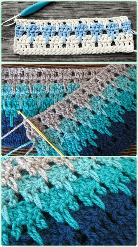 Crochet Larksfoot Stitch Free Pattern | crochet patterns | Pinterest ...