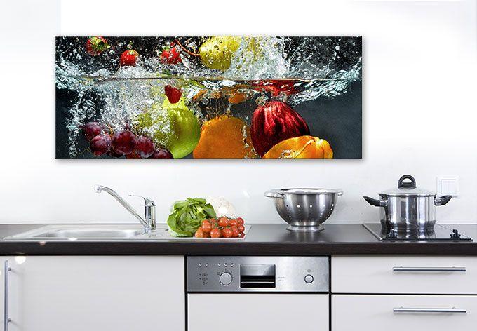 Acryl Acrylglasbild Wandbild Fü Rdie Küche Erfrischendes Obst