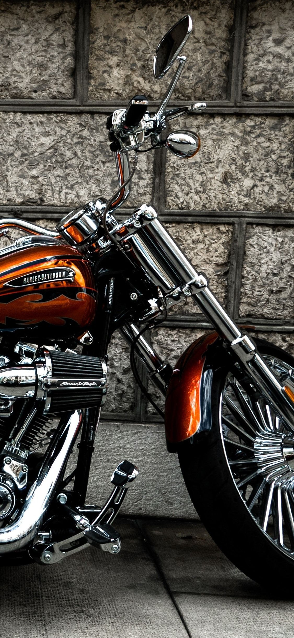 Wallpaper Harley Davidson Motorcycle Side View 3840x2160