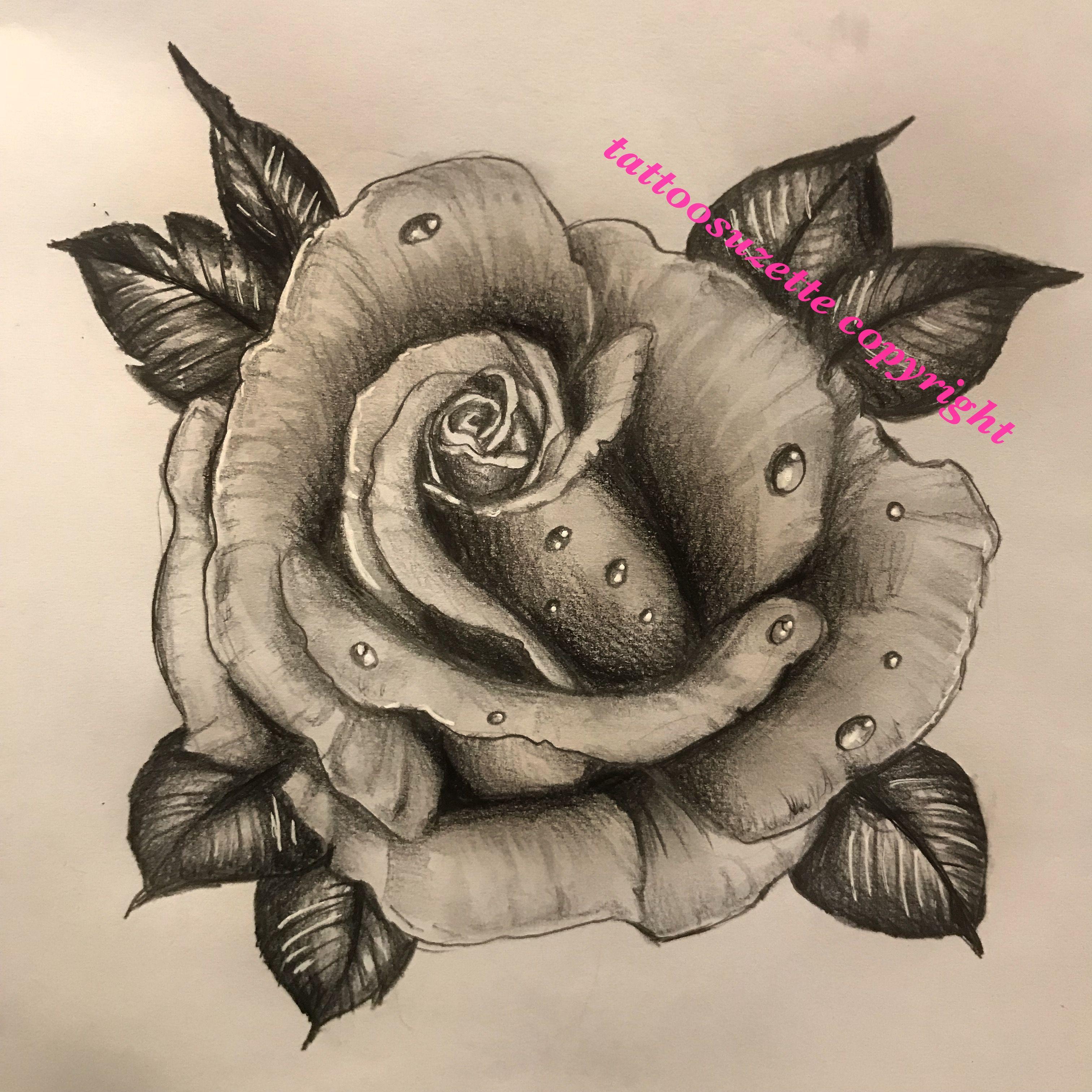 Black And Grey Rose Tattoo Design Rosetattoo Tattooflower Flowertattoo Tattoorose Traditional Rose Tattoos Black Rose Tattoo Meaning White Flower Tattoos