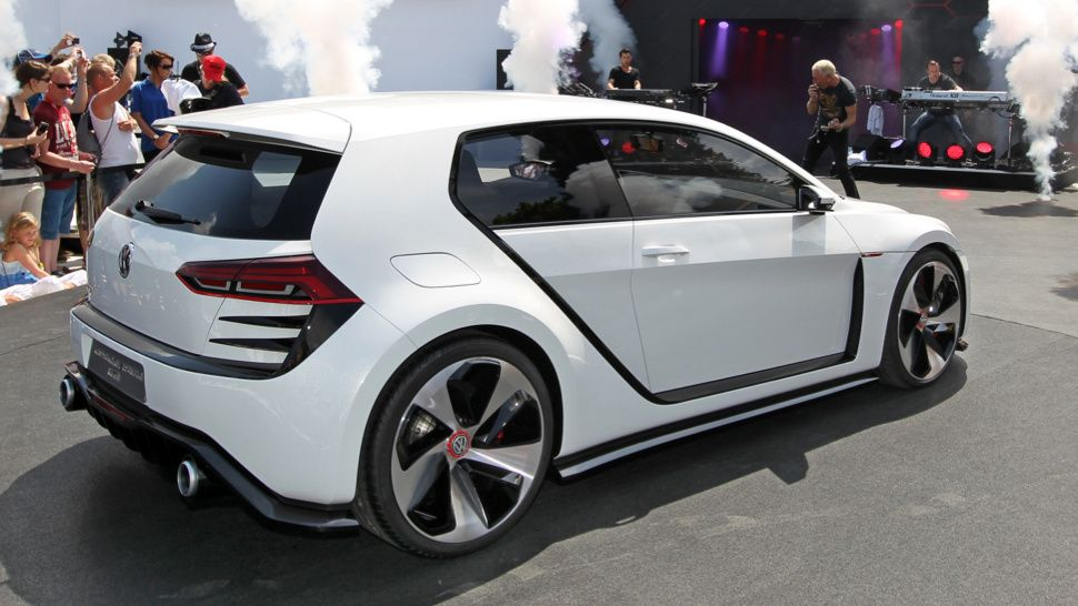 This is what you get when you combine a VW GTI with An Audi R8.  Somehow, Volkswagen allowed a group of mad scientists to temporarily take over the Golf program and they came up with this 503 HP concept.