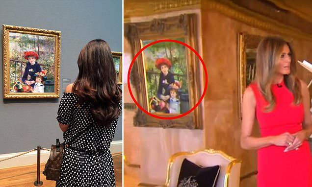 French impressionist Pierre-Auguste Renoir's Two Sisters (On The Terrace) has hung in the Art Institute of Chicago since 1933 but Trump asserts his is real.