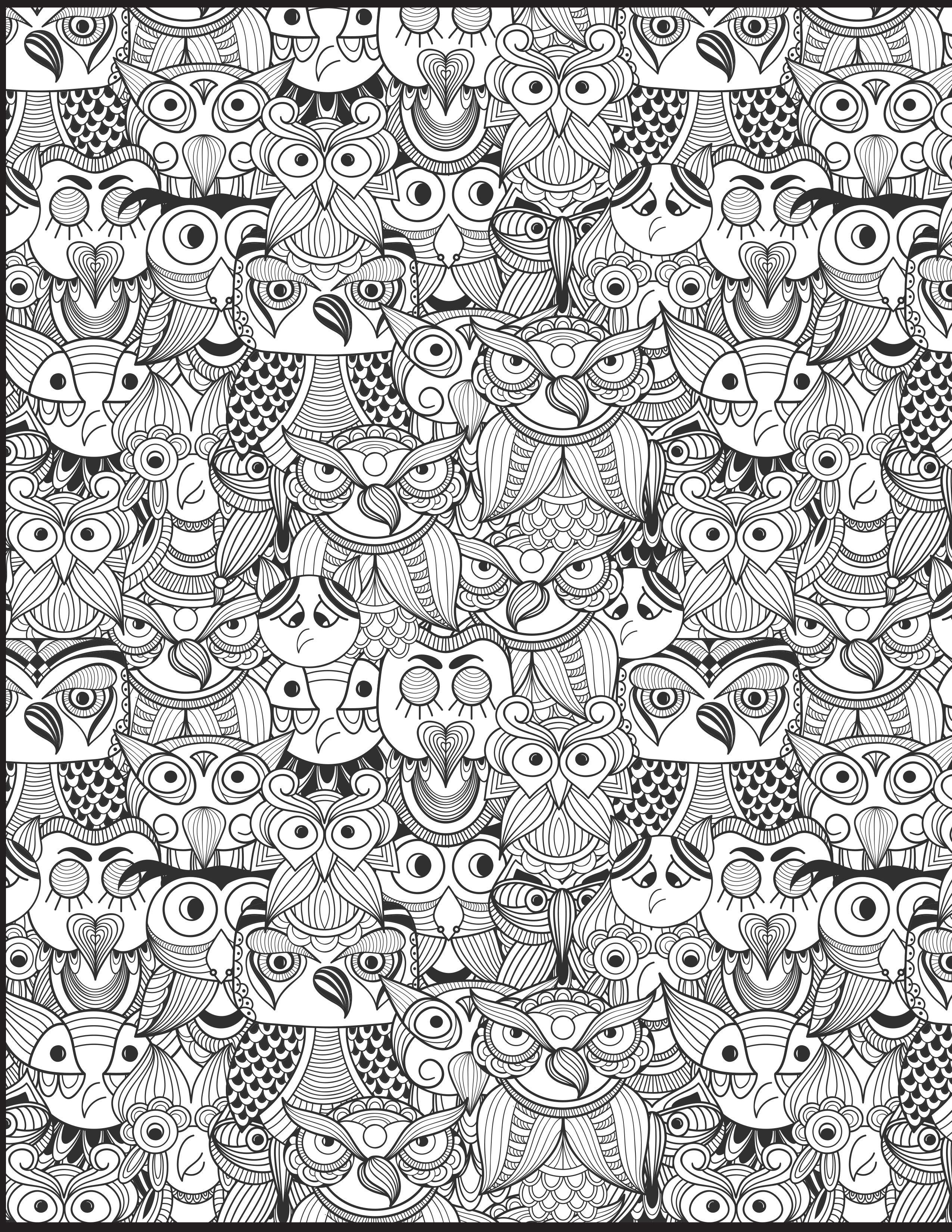Eulen Malvorlage | little things to print | Pinterest | Eulen ...