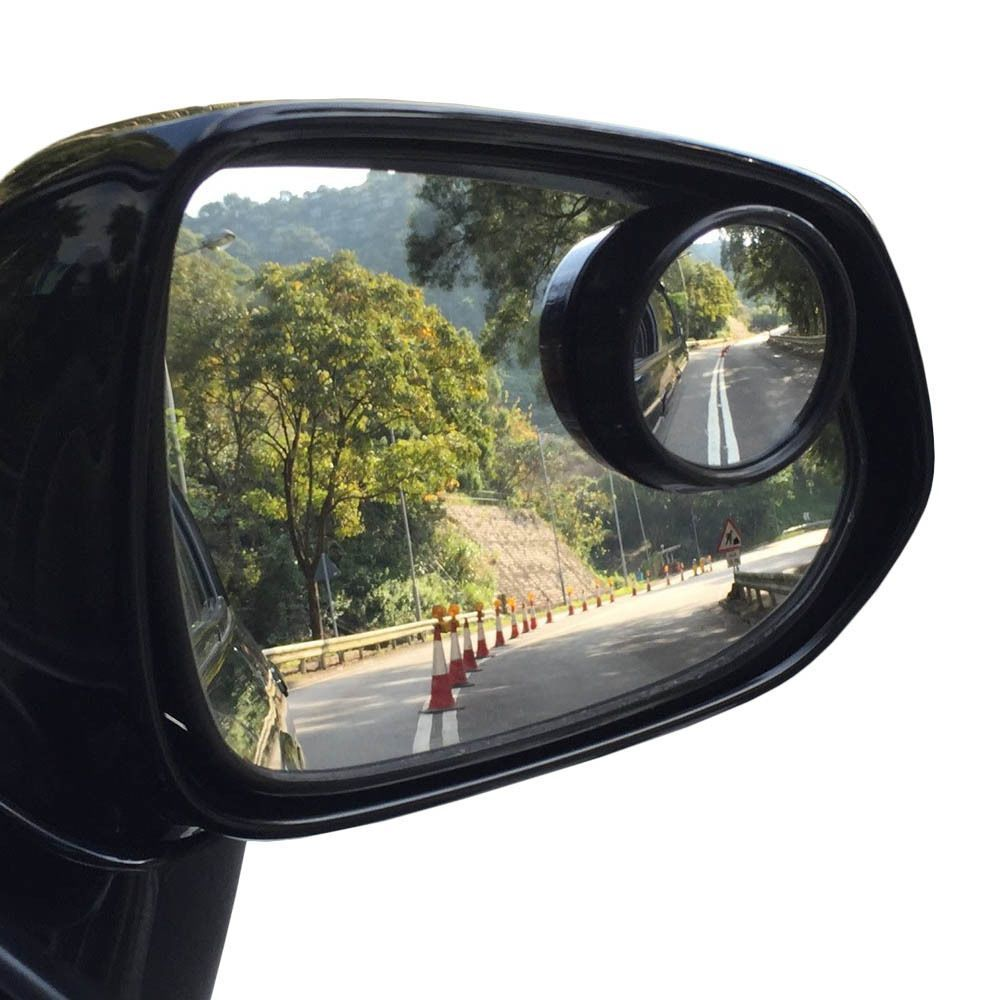2 Pack Round 2 Convex Stick On Rear View Blind Spot Mirrors Car Truck Suv Car Mirror Mirror