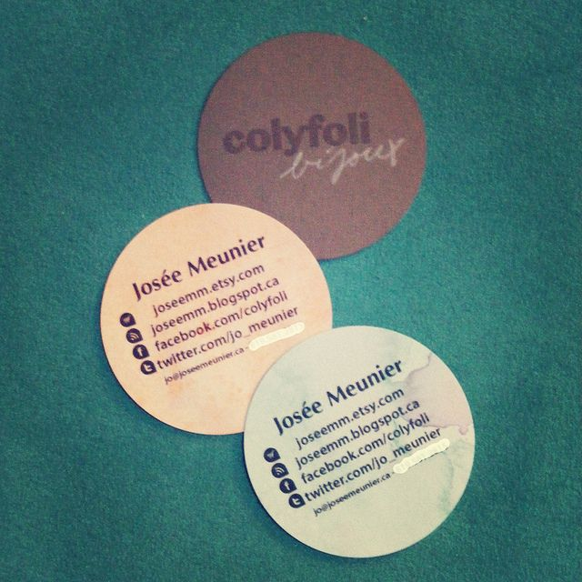 Diy new colyfoli handcrafted business cards by jose meunier diy new colyfoli handcrafted business cards by jose meunier mcallister via flickr diy craft business cards reheart Choice Image