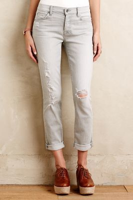 7 For All Mankind Josefina Jeans Distressed Grey Destroy