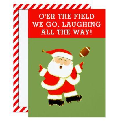 football christmas card xmas christmaseve christmas eve christmas merry xmas family kids gifts holidays santa - Football Christmas Eve
