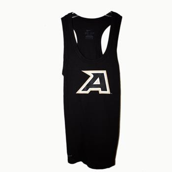 """Nike® Got Your Back Tank Top    64% Cotton, 36% Polyester. Black racerback tank top with """"A"""" center chest."""