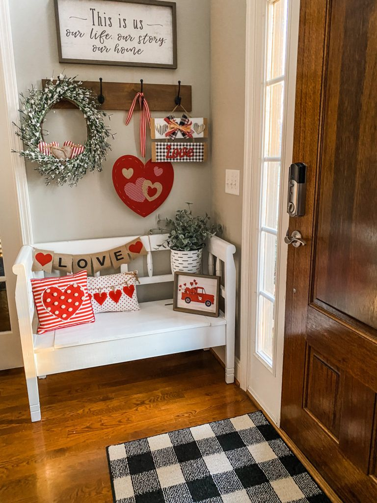Valentine's decorating for under $40 in my entry way!