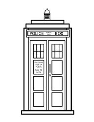 tardis colouring coloring page doctor who