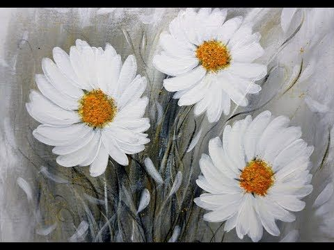 Easy Painting/ACRYLICS/FLOWERS/BLUMEN/Einfach Malen/V299
