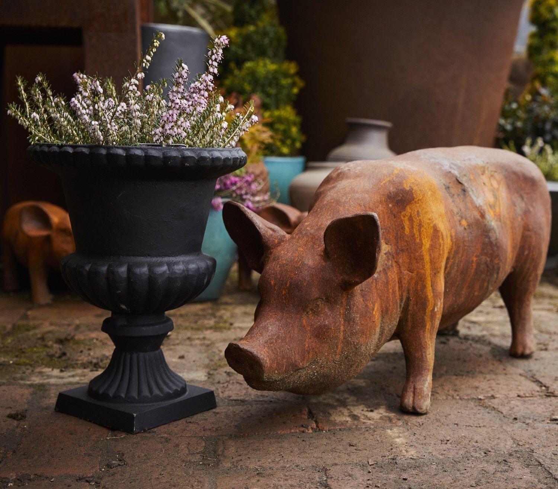 Standing Sow, Pig Statue, Cast Iron, Farm Animal, Garden ...