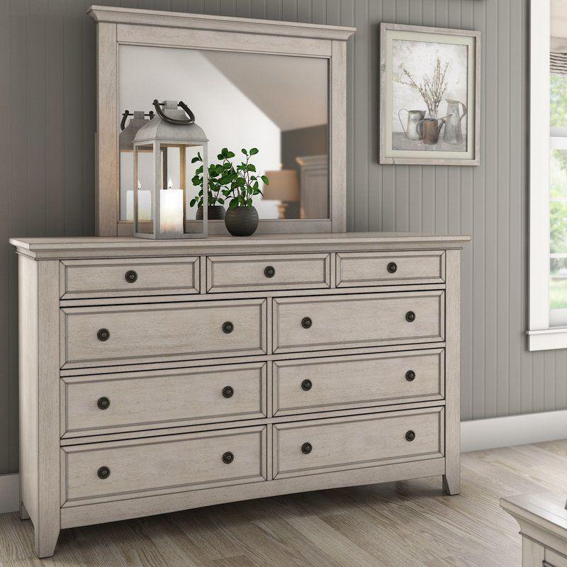 Woodside 9 Drawer Dresser With Mirror Dresser With Mirror Dresser Drawers Furniture