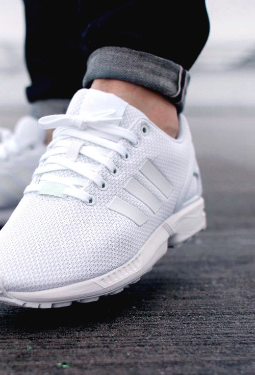 low priced e652f 4e2c0 adidas Originals ZX Flux White