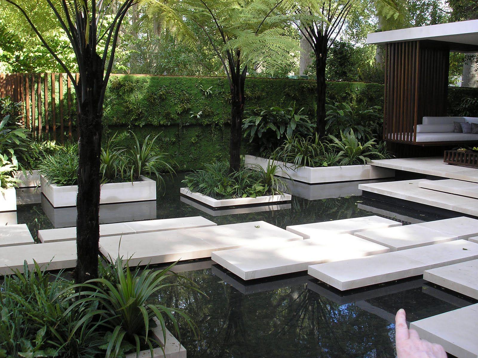 Pond patio floating garden water feature pinterest for Pinterest garden stones