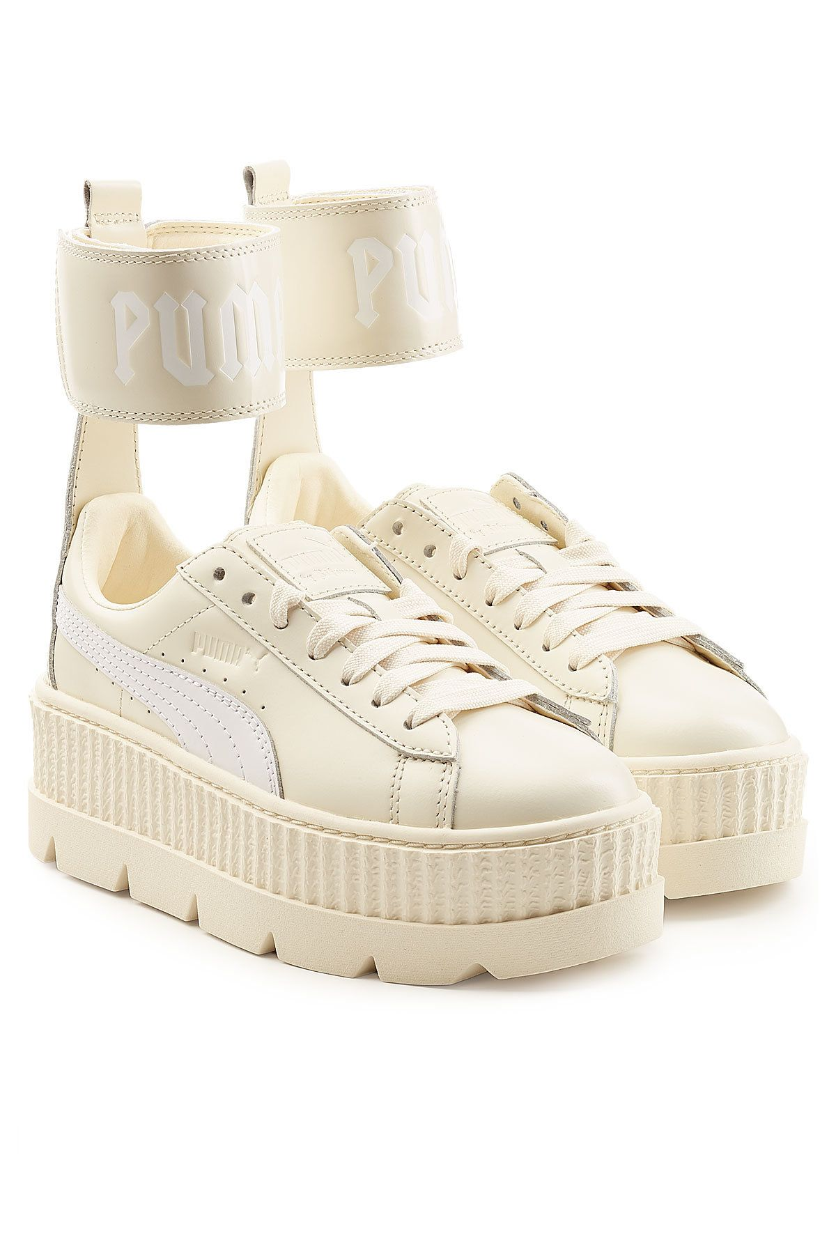 4f5c0d9a1ac7 FENTY X PUMA ANKLE STRAP LEATHER CREEPER SNEAKERS.  fentyxpuma  shoes