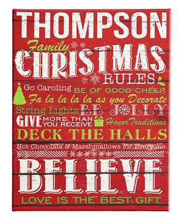 Look what I found on #zulily! Red \u0027Family Christmas Rules