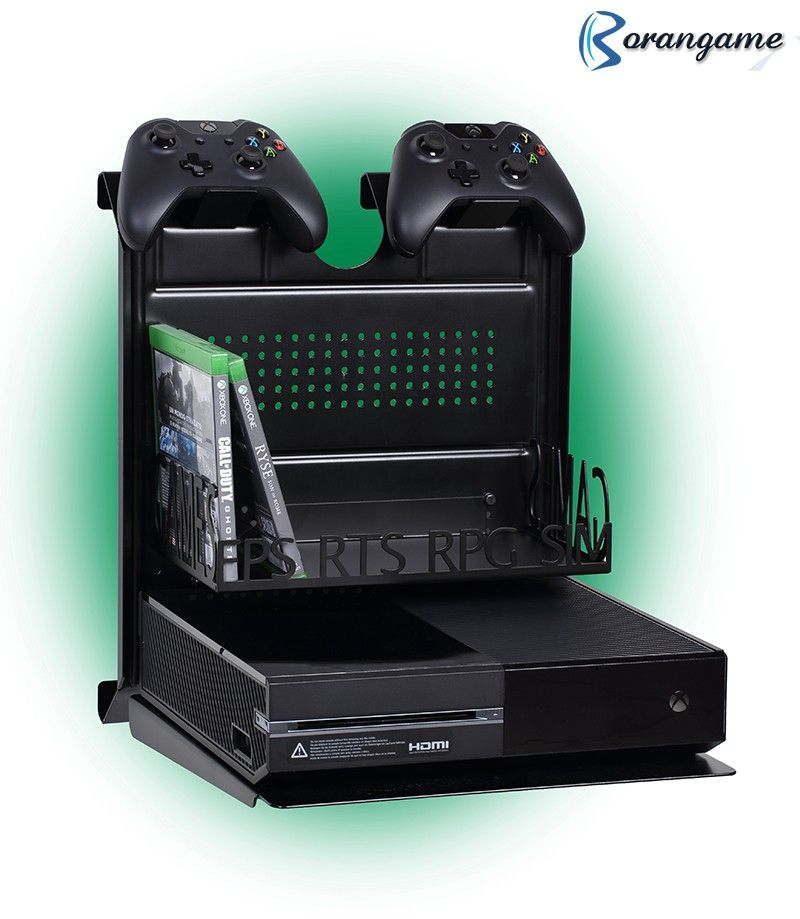 Gameside Bundle Big Daddy Game Console Horizontal Wall Mount With Multicolor Led Light Borangameshop Video Game Rooms Xbox One Xbox One Games