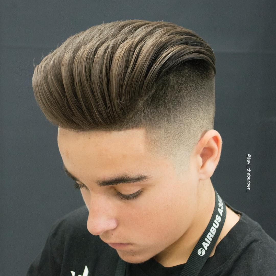 Short haircuts for balding men  popular the pompadour haircut   beards  haircut