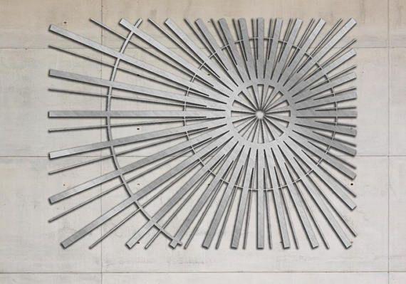Découpé au laser Sculpture Art panneau mural décoratif métal Laser