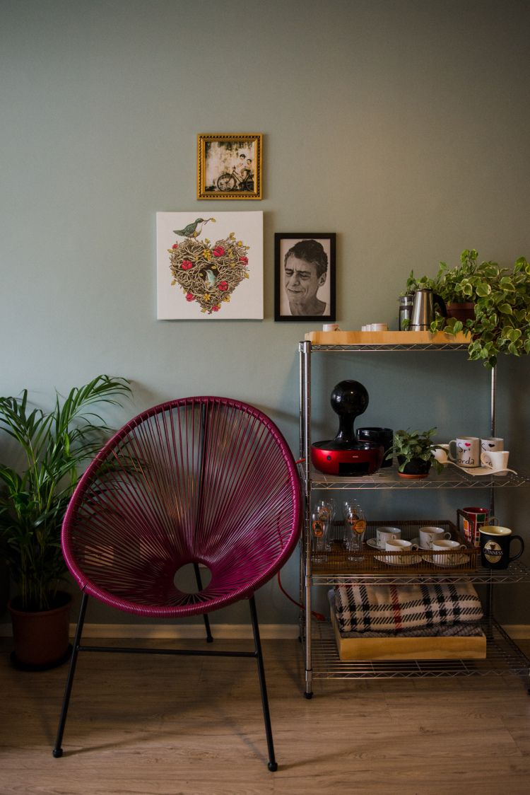 Photo of Small apartment, rented, integrated kitchen, decorated, garden, plants in ap …