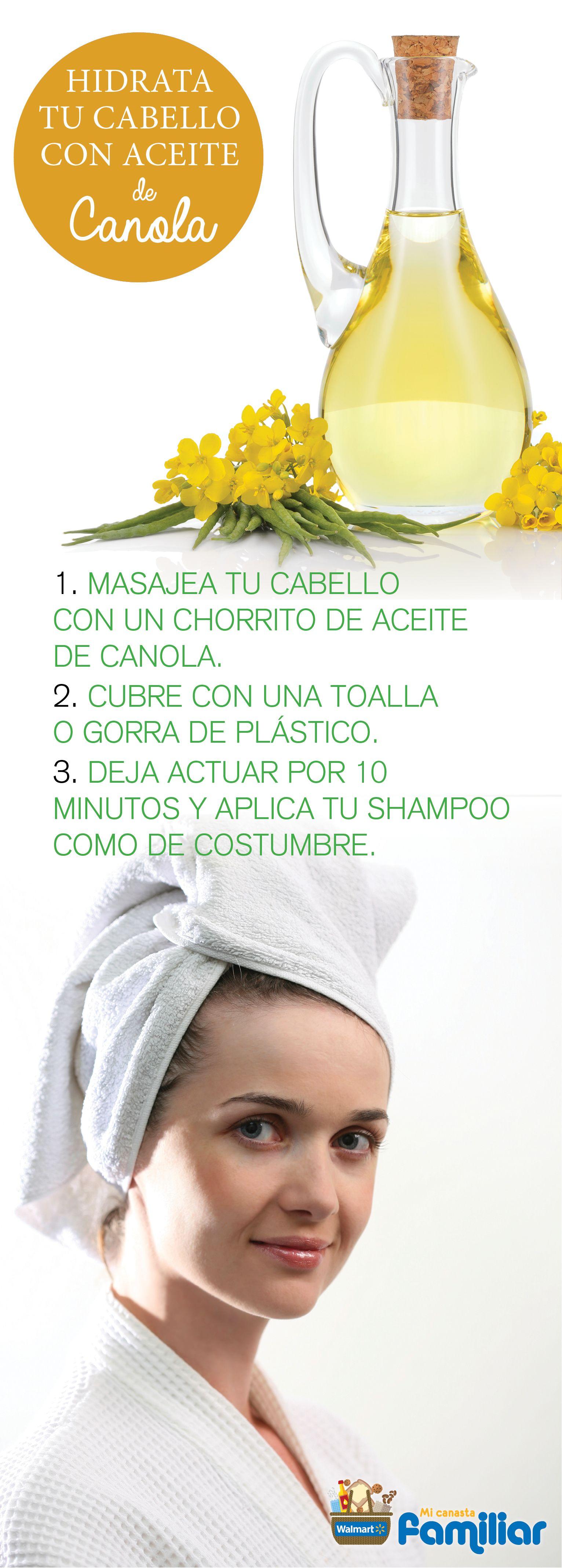 Tipdebelleza Aceite De Canola Para Hidratar El Cabello Tips