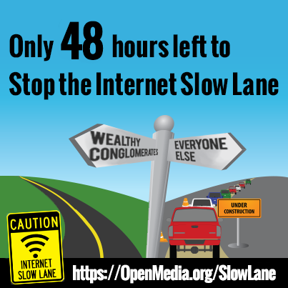 """Say """"NO !"""" to the Internet Slow Lane 