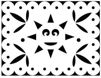 Image result for free easy fiesta papel picado templates