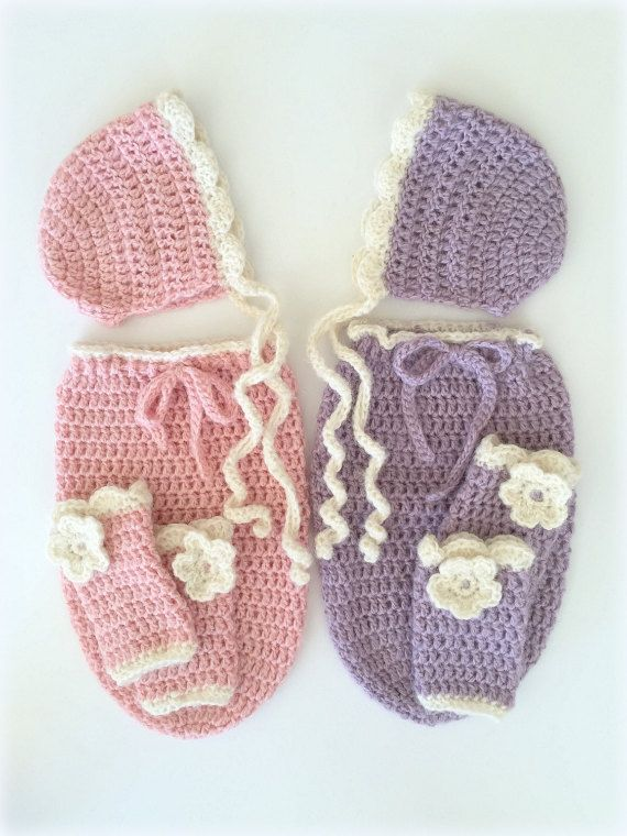 Crochet Cocoon And Bonnet Pattern Easy Swaddle Sack Pattern