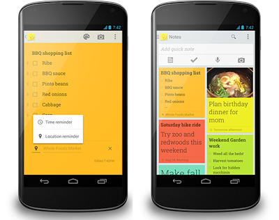 Google Keep app for Android updated with reminders and