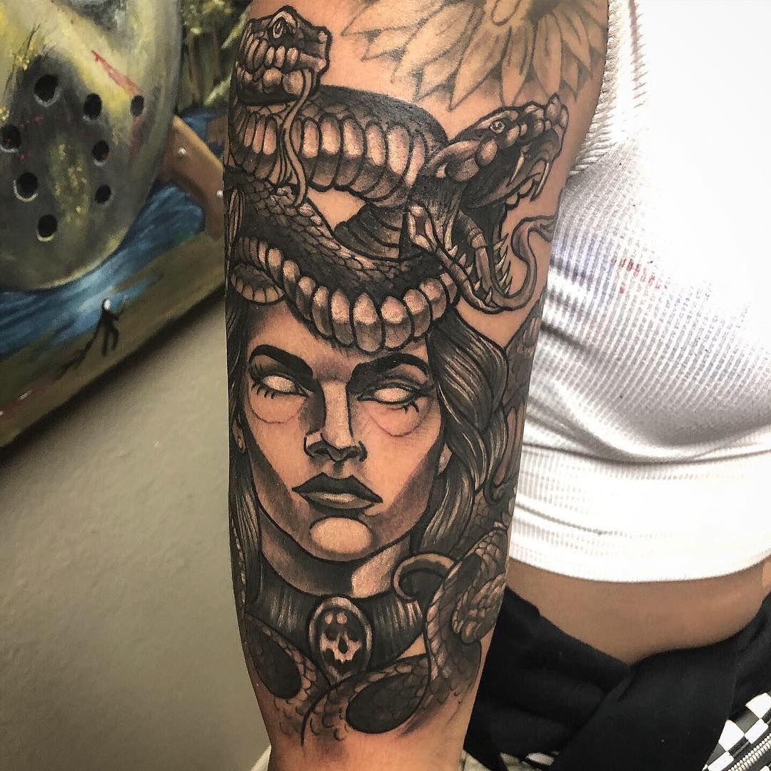 Club tattoo mesa on instagram kenzi killed this medusa