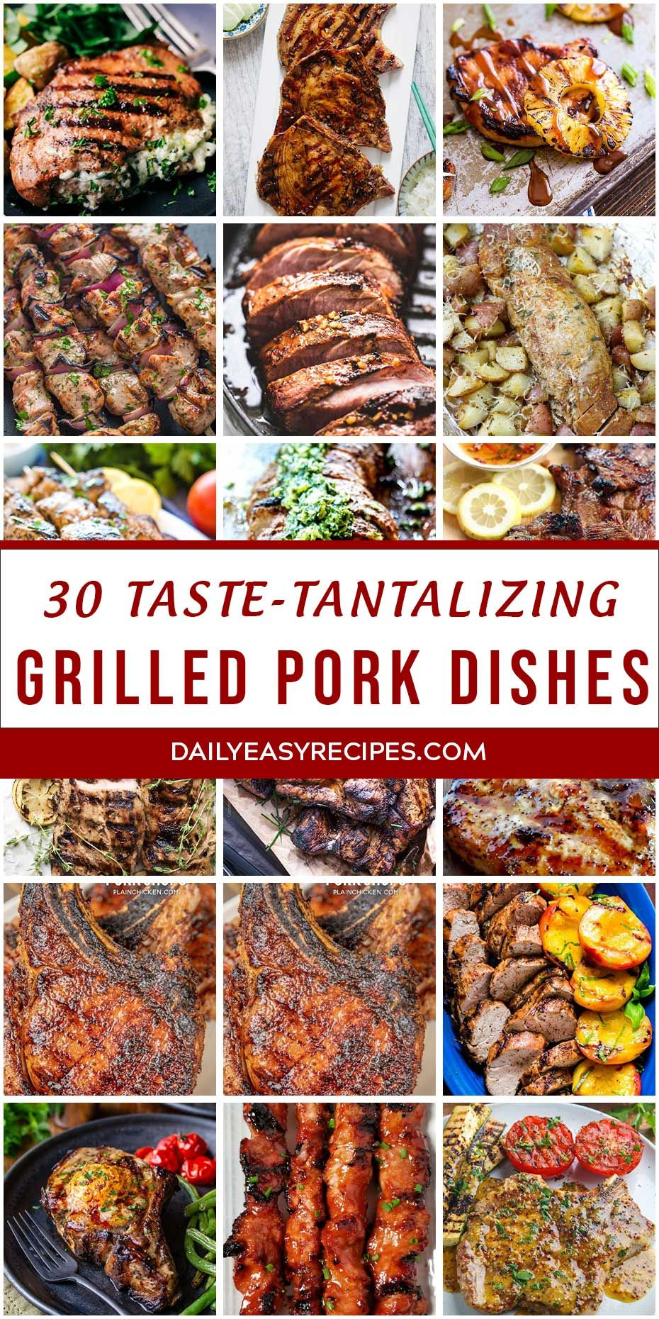 "30 ""Taste- Tantalizing"" Grilled Pork Dishes – Easy and Healthy Recipes #grilledporksteaks"