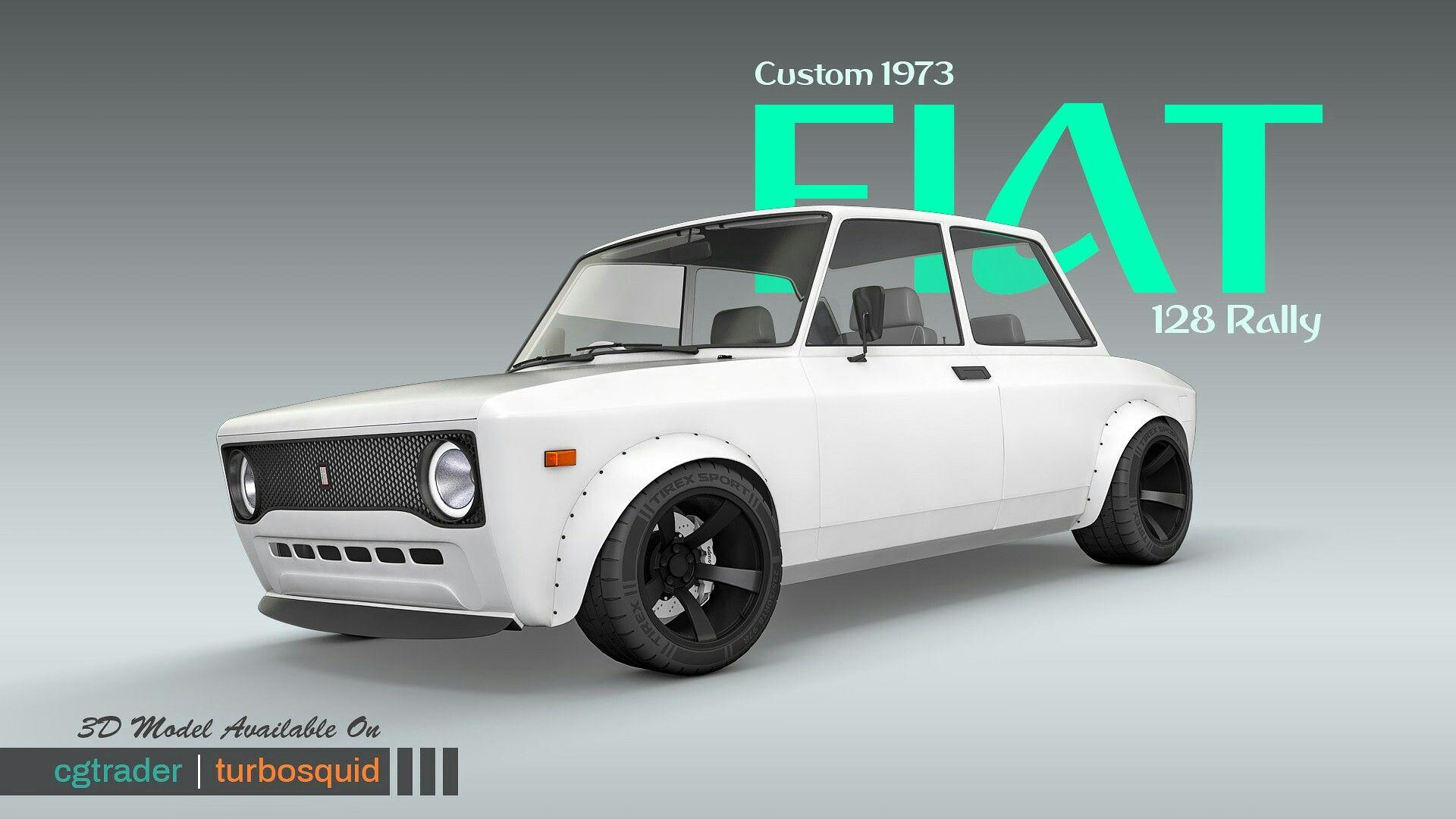 Custom 1973 Fiat 128 Rally 3d Model Fiat 128 Fiat 3d Model