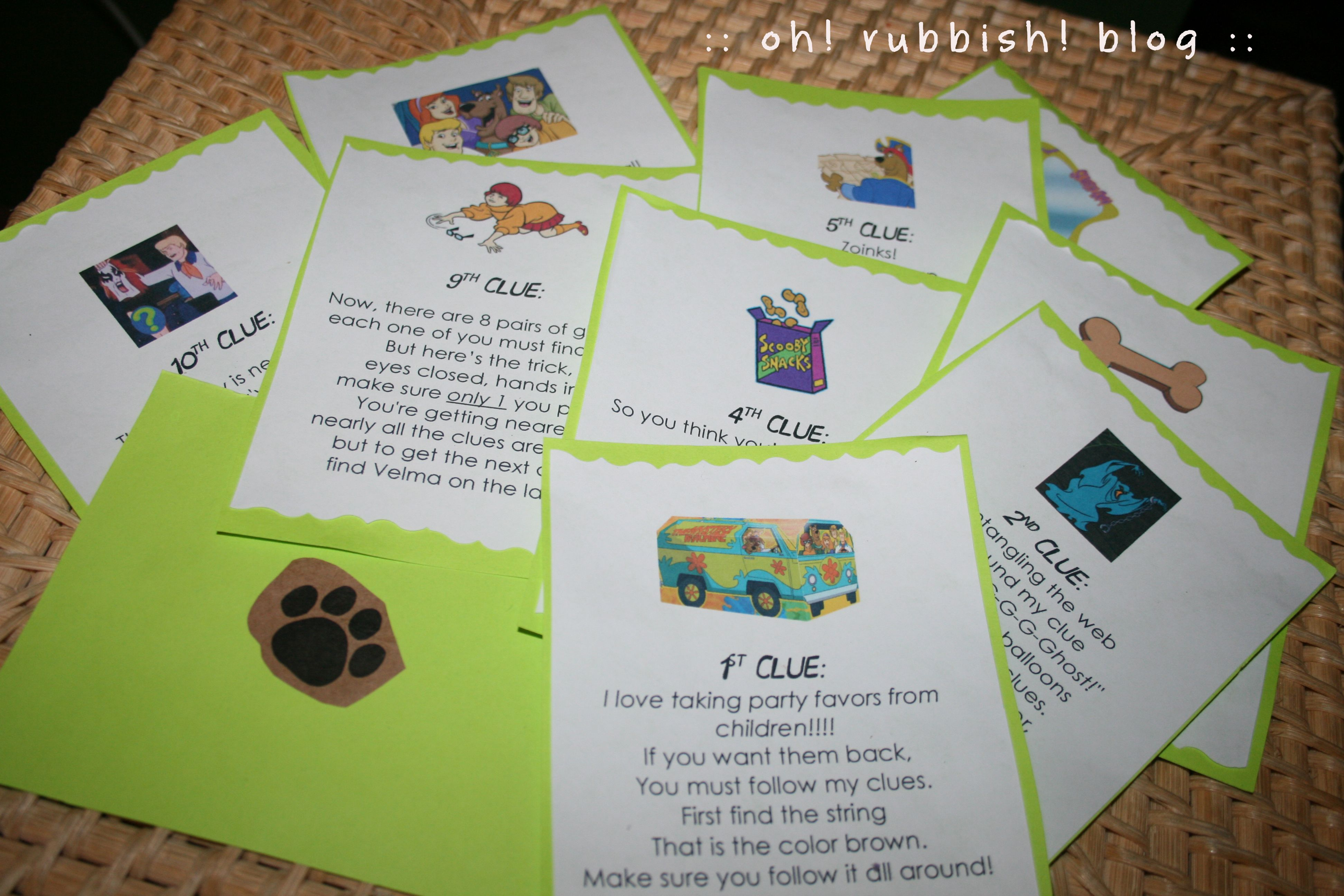 Scooby Doo Party Ideas Scooby Doo Mystery Game