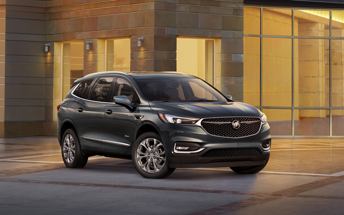 Download Wallpapers Buick Enclave Avenir 2018 Suv American Cars Facelift New Enclave Buick Buick Enclave Buick Mid Size Suv