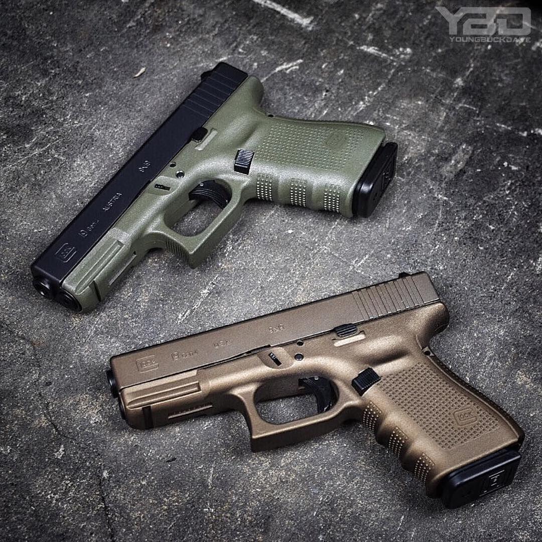 From @youngbuckdave ・・・ Battlefield Green Glock 19 or Burnt Bronze Glock 19. Which Glock are you❓❓❓ #YoungBuckDave #YBD #GlockPorn ▫️▫️▫️▫️▫️▫️▫️▫️▫️▫️▫️▫️▫️▫️▫️▫️▫️ #glockinc #glock #glock19 #g19 #gen4 #bfg #burntbronze #bb #gunsofinstagram...