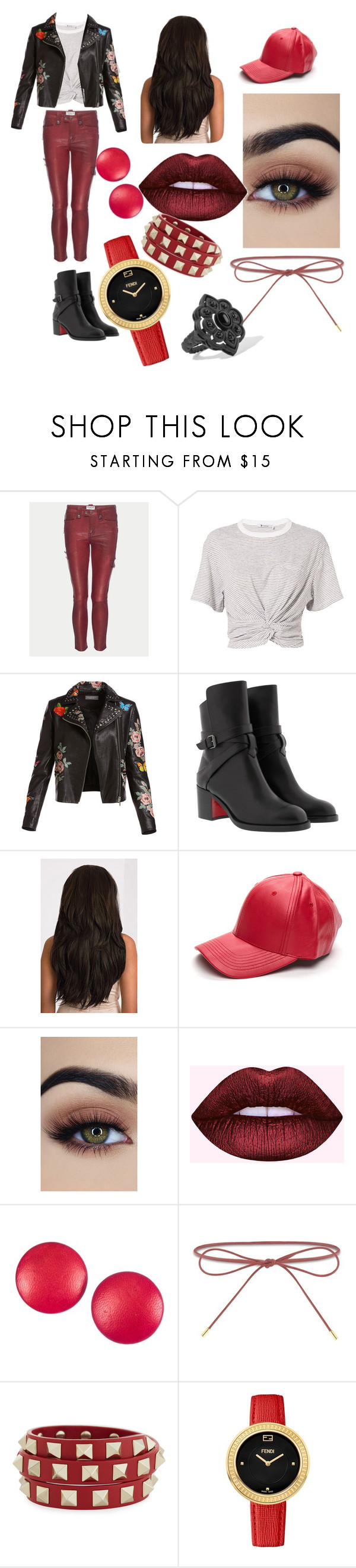 """""""31"""" by urooj684 ❤ liked on Polyvore featuring Frame, T By Alexander Wang, Bagatelle, Christian Louboutin, Charles Jourdan, Elizabeth and James, Valentino, Fendi and Gucci"""