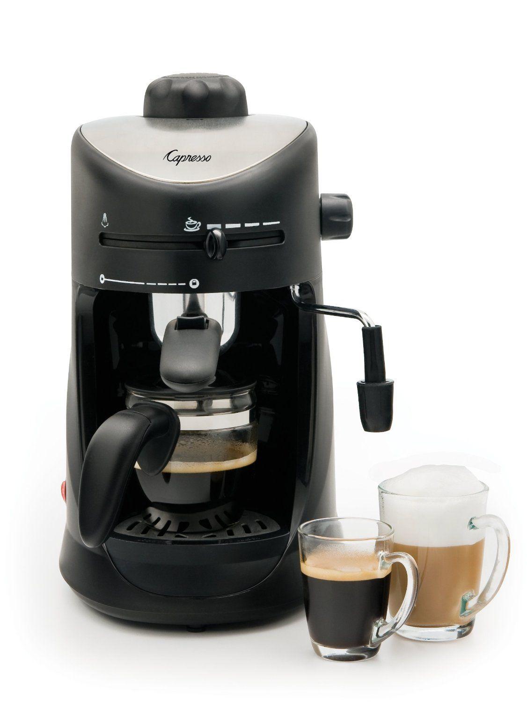 Amazon Com Capresso 303 01 4 Cup Espresso And Cappuccino Machine Combination Coffee Espresso Machines K Cappuccino Machine Espresso Machine Reviews Capresso