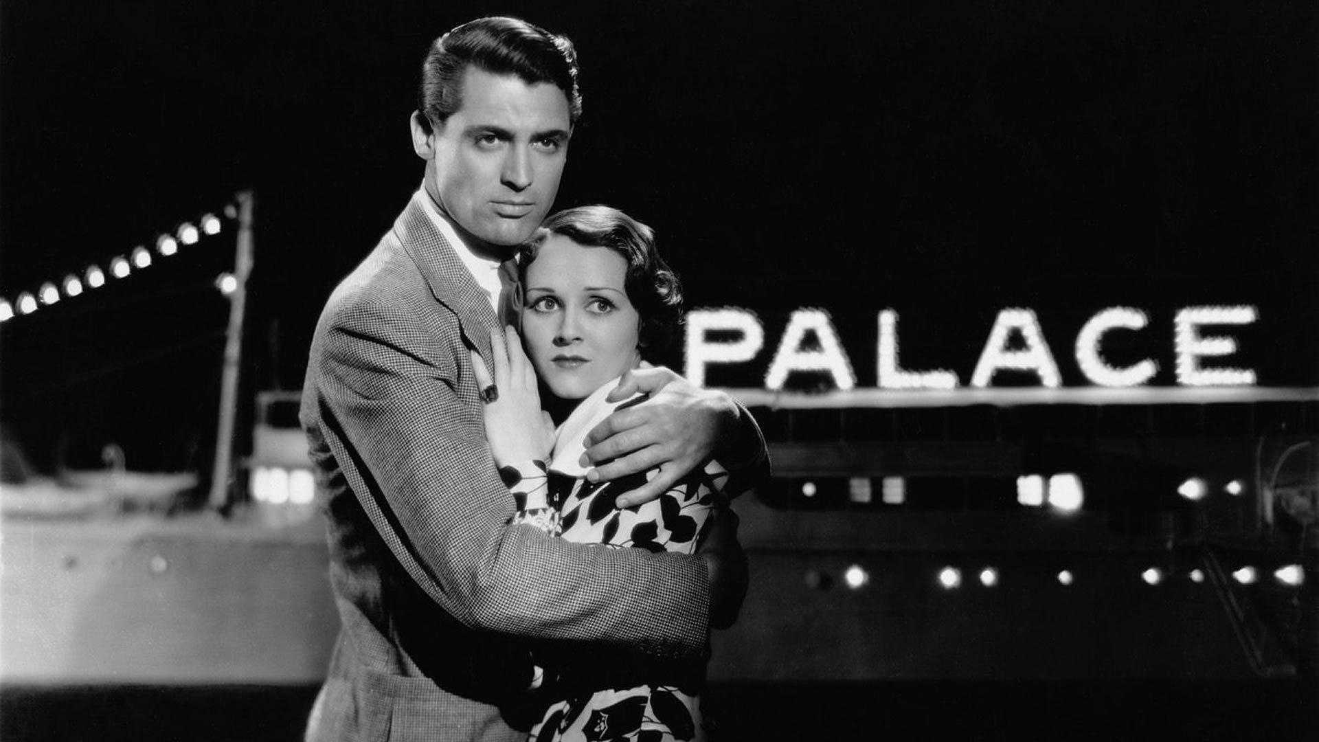 "Cary Grant and Glenda Farrell in ""Gambling Ship"" (1933)."