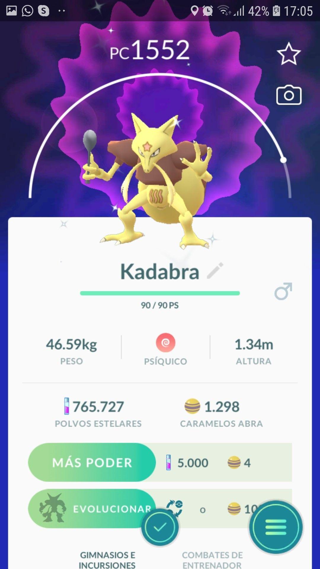 Kadabra Shiny Pokemon Go Shiny Pokemon Pokemon Psychic