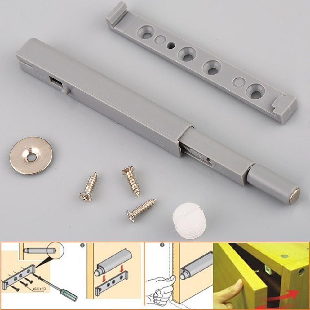 5pcs Push To Open Latch Kitchen Cabinet Door Buffer Soft Closer Damper Catch Ebay Kitchenc Kitchen Cabinets Door Hinges Cabinet Doors Open Kitchen Cabinets