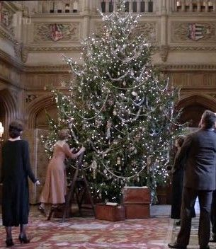 The Downton Abbey Christmas tree