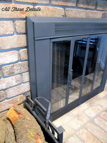 Repainting Brass Fireplace Doors Fireplace Doors Fireplace