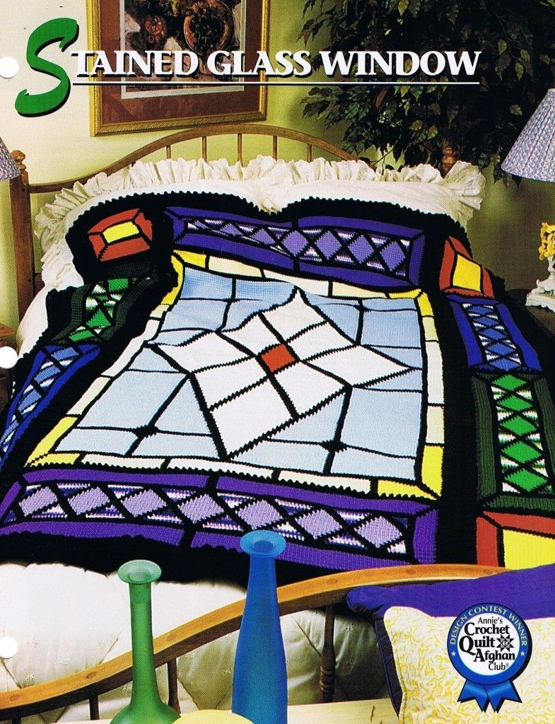 Stained Glass Window Annie\'s Crochet Afghan Pattern Instructions ...