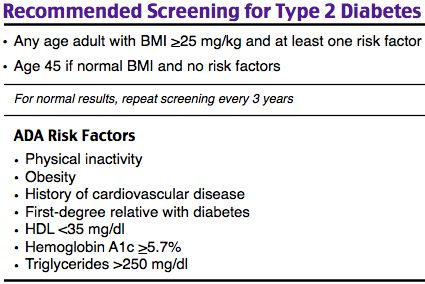 Recommended Screening For Type 2 Diabetes Rosh Review Endocrine