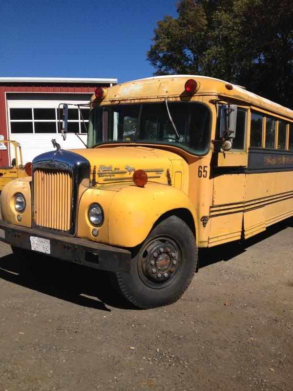 Old Mack School Bus With Images Old School Bus School Bus